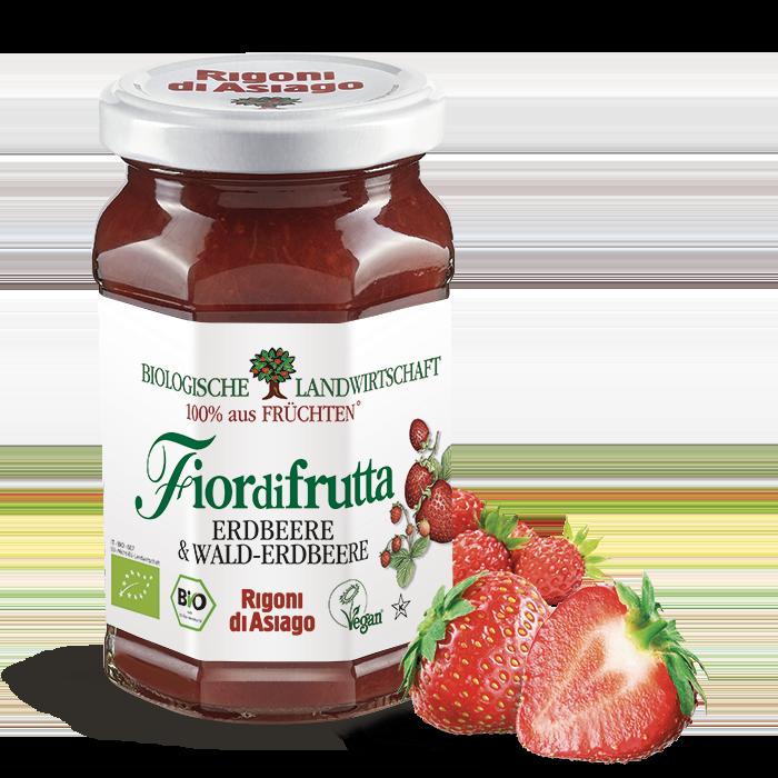 Erdbeeren und Walderdbeeren